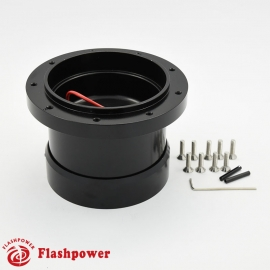 6102B Flashpower 9 Bolt Steering Wheel Adapter For Ford Falcon Comet Mustang Econoline Mercury 63-64 Black