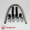 "48"" Stainless Flex Radiator Hose Kit With Caps"