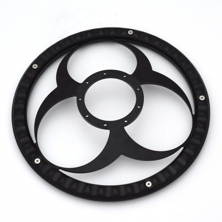 "Bio-Hazard 14"" Black Billet Steering Wheel with Half Wrap Rim"