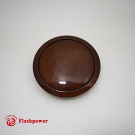 Horn Button for 9 bolt Steering Wheels,Small Wood Walnut
