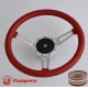 """14"""" Classic Leather Steering Wheel 9 bolt with Horn Button"""