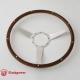 14'' Laminated Wood Steering Wheel w/9 rivets, Polished