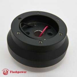 Steering Wheel Short Hub Adapter Billet Black for Nissan