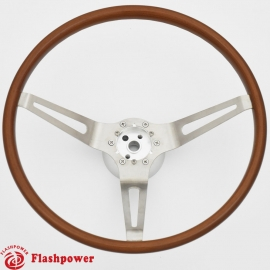 15'' GM Muscle Car Wood Steering Wheel with Adapter