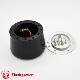 6166B  Flashpower 6 Bolt Steering Wheel Adapter For Ford Probe Festiva Mercury Mazda Kia Hyundai Black