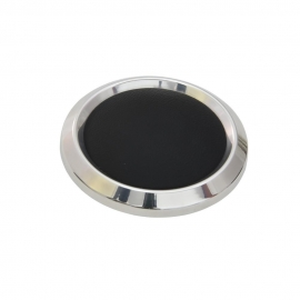 Boat Steering Wheel Center Cap Polished w/ Black