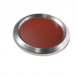 Boat Steering Wheel Center Cap Satin w/Burgundy