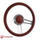 Horn Button for 9 bolt Steering Wheels,Banjo Big Polished