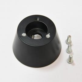 Boat steering Wheel Hub Adapter Black 3 bolt