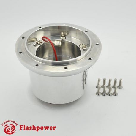 Flashpower steering wheel adapter 9 bolt Billet Polished