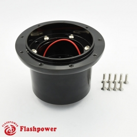 Flashpower steering wheel adapter 9 bolt Billet Black