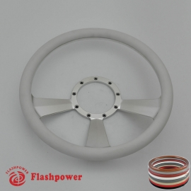 "Radiant 14"" Satin Billet Steering Wheel with Half Wrap Rim"