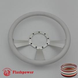 "Radiant 14"" Satin Billet Steering Wheel with Half Wrap Rim"