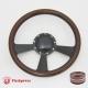 """Radiant 14"""" Black Billet Steering Wheel with Half Wrap and Horn Button"""