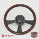 """Radiant 14"""" Black Billet Steering Wheel Kit Half Wrap with Horn Button and Adapter"""
