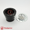 Flashpower steering wheel adapter 6 bolt Billet Black
