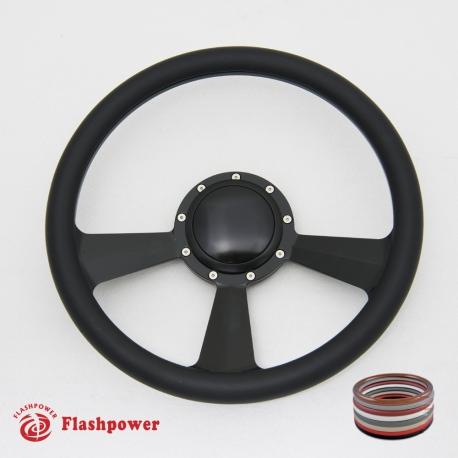 14 Billet Steering Wheels Half Wrap Dodge Challenger Charger Daytona w//Horn