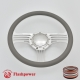 """Zephyr 14"""" Polished Billet Steering Wheel with Half Wrap and Horn Button"""