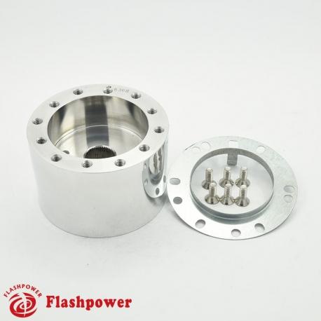 Flashpower steering wheel adapter 6 bolt Billet Polished