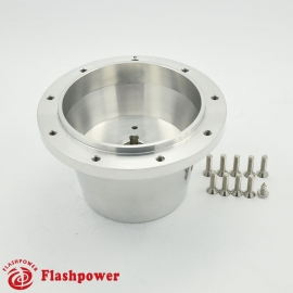Flashpower steering wheel adapter 9 bolt Billet Polished for VW transporter