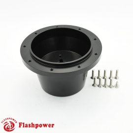 Flashpower steering wheel adapter 9 bolt Billet Black for VW  transporter