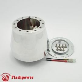 Flashpower steering wheel adapter 6 bolt Billet Polsihed for Audi VW Beetle