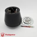 6461B  Flashpower Steering Wheel Adapter 6 Bolt Billet Polsihed For Audi VW 99-2011 Porsche 05-2011 Black