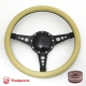 "Sport 14"" Black Billet Steering Wheel with Half Wrap and Horn Button"