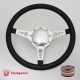 "Sport 14"" Satin Billet Steering Wheel Kit Half Wrap with Horn Button and Adapter"