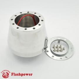 Flashpower steering wheel adapter 6 bolt Billet Polished for Porsche