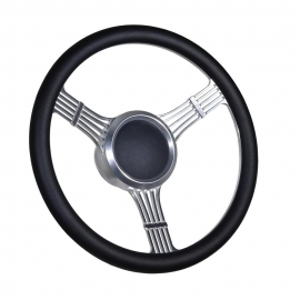 "14"" Banjo Style Boat Steering Wheel Full wrapped w/ 3/4"" KeyWay Adapter"