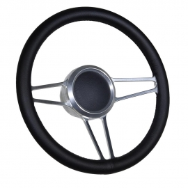 "14"" Tridon Boat Billet steering wheel W/Adapter 3 spoke 3/4"" tapered key"