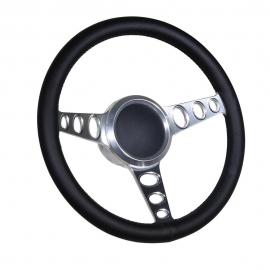 "14"" Cruisin' Boat steering wheel W/Adapter 3 spoke 3/4"" tapered key Marine"