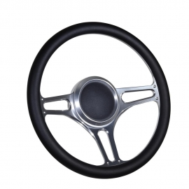 "14"" Troika Boat  Billet steering wheel W/Adapter 3 spoke 3/4"" tapered key Marine"