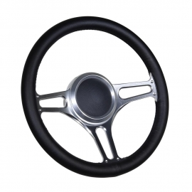 "14"" Troika Boat Billet steering wheel W/Adapter 3 spoke 3/4"" tapered key"