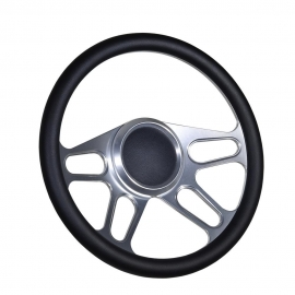 "14"" Trickster Boat Billet steering wheel W/Adapter 4 spoke 3/4"" tapered key Marine"