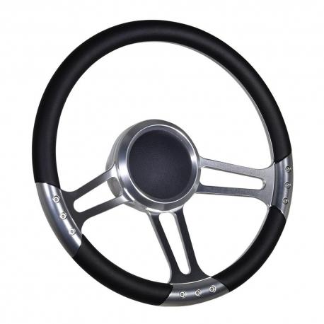 14 Leather Style Boat Steering Wheel W 3 4 Keyway Adapter Boss