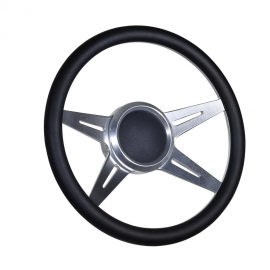 "14"" Racer Boat Billet steering wheel W/Adapter 3/4"" tapered key Marine"