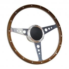 """14"""" Leather Banjo Style Boat Steering Wheel w/ 3/4"""" KeyWay Adapter Boss"""