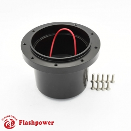 Flashpower steering wheel adapter 9 bolt Billet Black for VW Beetle