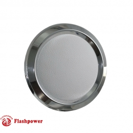 Horn Button for 9 bolt Steering Wheels,Polished White