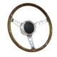 Horn Button for 9 bolt Steering Wheels,Banjo Big Polished