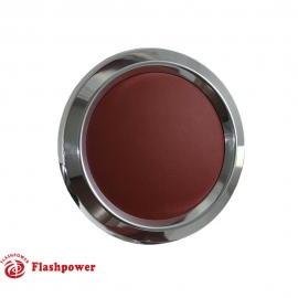 Color Match Horn Button for 9 bolt Steering Wheels,Polished w/ Burgundy