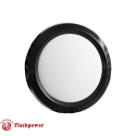 Billet Aluminum Steering Wheel Horn Button White Leather Black