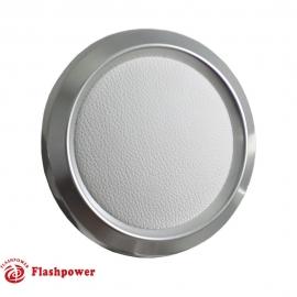 Color Match Horn Button Satin w/ White Center Wrap
