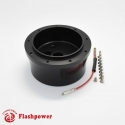 6002B  Flashpower steering wheel adapter 9 bolt Billet Black for GM Chevy