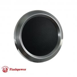 Color Match Horn Button Satin w/ Black Wrap Center