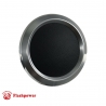 Billet Aluminum Steering Wheel Horn Button Black Leather Satin