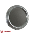 Billet Aluminum Steering Wheel Horn Button Light Grey Leather Satin