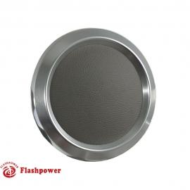 Color Match Horn Button Satin W/ Light Grey Wrap